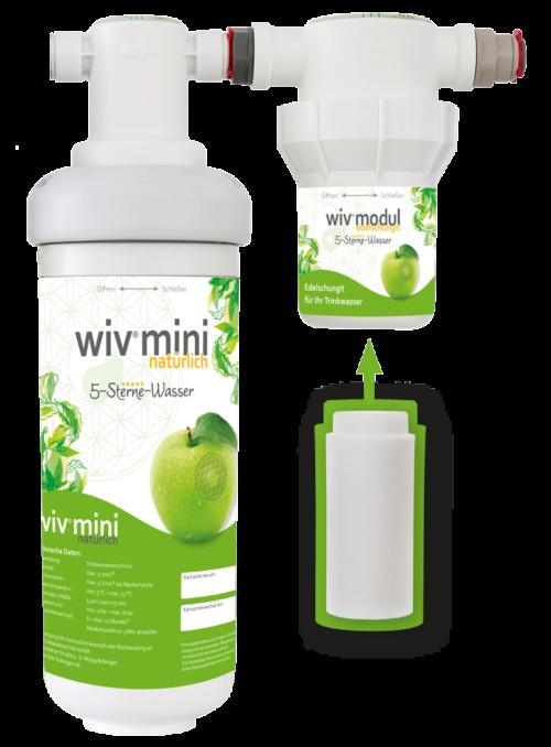 Wasserfilter WiV mini mit Edel-Schungit-Kartusche im Holzbox-0