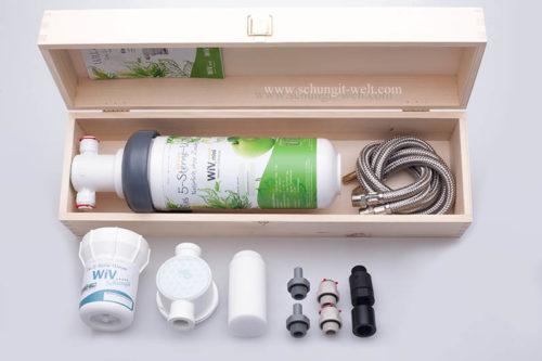 Wasserfilter WiV mini mit Edel-Schungit-Kartusche im Holzbox-541